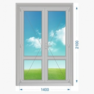 Дверь алюминиевая наружная одностворчатая