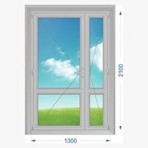 Дверь алюминиевая наружная одностворчатая с узкой створкой