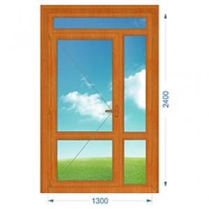 Дверь ПВХ наружная одностворчатая с доп. окнами
