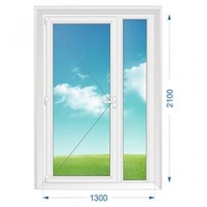 Дверь ПВХ наружная одностворчатая с доп. окном