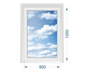 Окно для дачи одностворчатое глухое