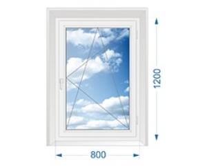 Окно для дачи одностворчатое поворотно-откидное