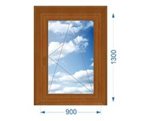 Окно одностворчатое поворотно-откидное с односторонней ламинацией