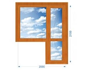 Балконная группа, окно глухое, дверь поворотно-откидная с односторонней ламинацией