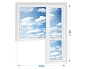 Балконная группа, окно глухое, дверь поворотно-откидная