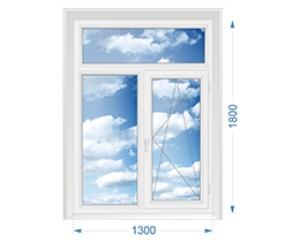 Окно Т-образное с одной поворотно-откидной створкой