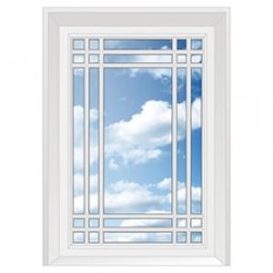 Окно глухое со шпросом: четыре вертикально четыре горизонтально по краям